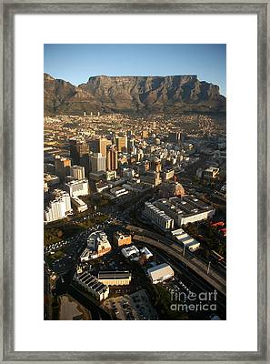 Cape Town From The Air Framed Print by Andy Smy