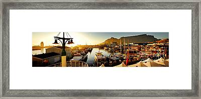 Cape Town's Waterfront Framed Print