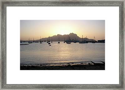 Cape Verde Sunset Framed Print