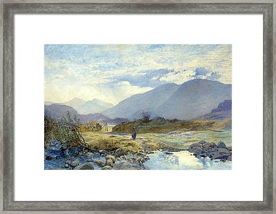 Capel Curig With Snowdon And The Glyders In The Distance. North Wales Framed Print