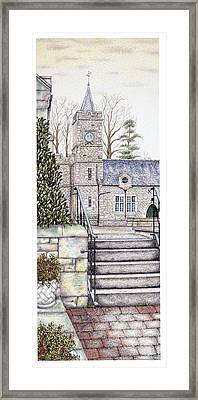 Capernwray Hall Clock  Lancashire Framed Print by Sandra Moore