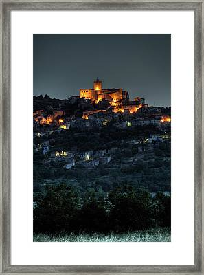 Capestrano Abruzzo Italy Framed Print by Tom  Doherty