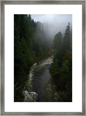 Framed Print featuring the photograph Capilano Canyon by Steven Richman