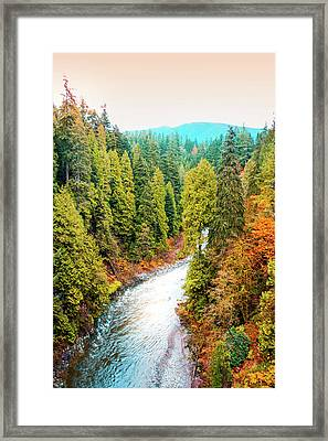 Capilano River Framed Print by Art Spectrum