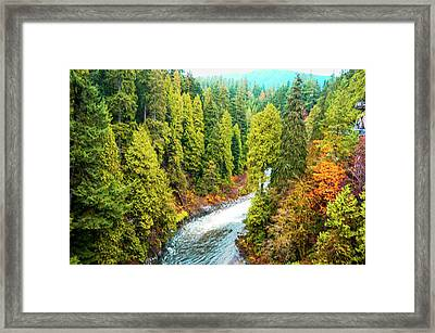 Capilano River, North Vancouver Bc, Canada Framed Print by Art Spectrum