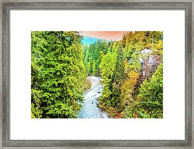 Capilano River, Vancouver Framed Print by Art Spectrum