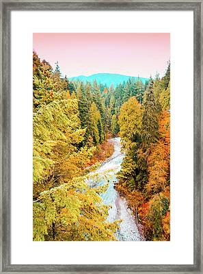 Capilano River View Framed Print by Art Spectrum
