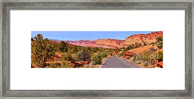 Capirol Reef Colorful Drive Panorama Framed Print by Adam Jewell