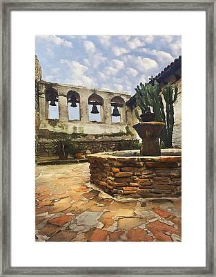 Capistrano Fountain Framed Print