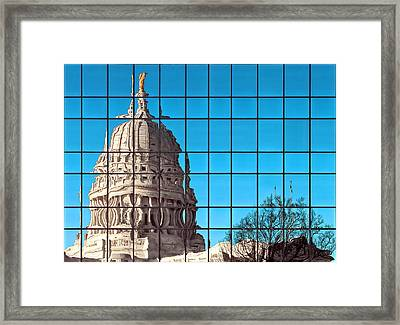 Capital City Reflection Framed Print