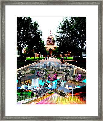 Capital Collage Austin Music Framed Print