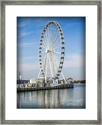 Capital Ferris Wheel Framed Print