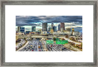 Capital Of The South Atlanta Skyline Cityscape Art Framed Print