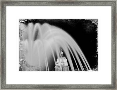 Capital Stained Framed Print by Todd Klassy