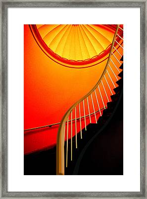Framed Print featuring the photograph Capital Stairs by Paul Wear
