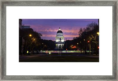 Capital Sunrise Framed Print