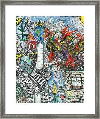 Capitalism Framed Print by Justin Chase