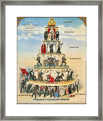 Capitalist Pyramid, 1911 Framed Print by Granger