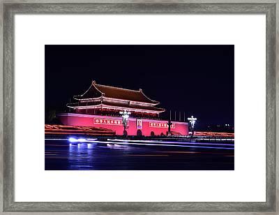 Capital's Light Framed Print by Midori Chan