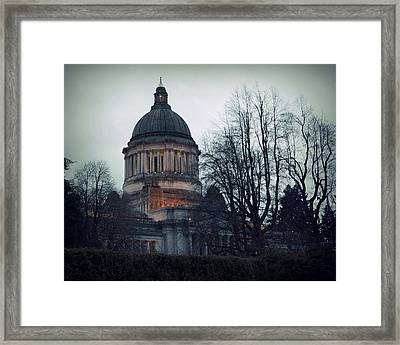 Capitol Aglow Framed Print by Patricia Strand