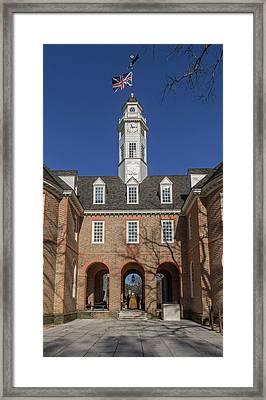 Capitol Breezeway Framed Print