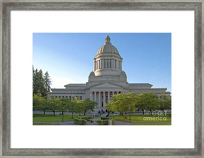 Capitol Building - East Side Framed Print by Larry Keahey