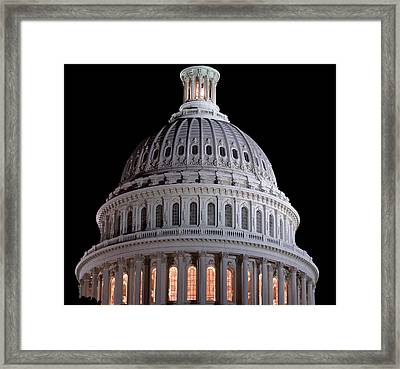 Capitol Dome In Washington Dc Framed Print
