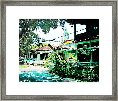 Capitol Grocery Spanish Town Baton Rouge Framed Print by Lizi Beard-Ward