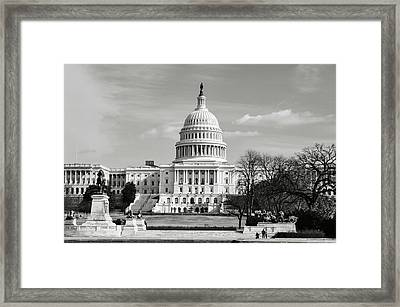 Capitol Hill Framed Print by Brandon Bourdages