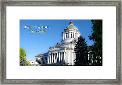 Capitol Framed Print by Larry Keahey