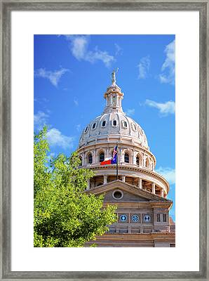 Capitol Of Texas - State Building - Austin Texas Framed Print by Gregory Ballos