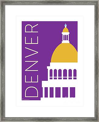 Denver Capitol/purple Framed Print