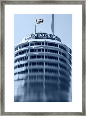 Capitol Records Building 16 Framed Print