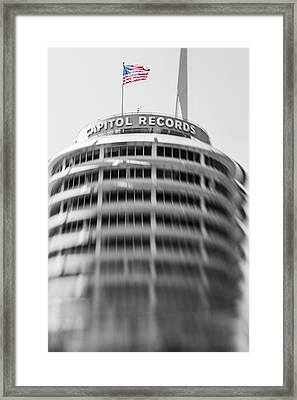 Framed Print featuring the photograph Capitol Records Building 18 by Micah May