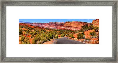 Capitol Reef Scenic Colors Framed Print by Adam Jewell