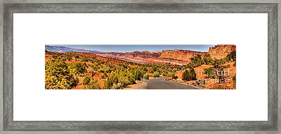 Capitol Reef Scenic Drive Panorama Framed Print by Adam Jewell