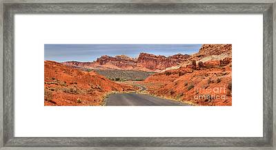 Capitol Reef Stunning Drive Framed Print by Adam Jewell