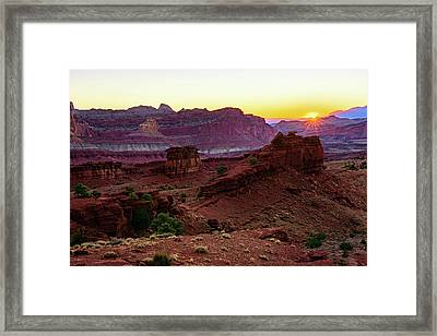 Capitol Reef Sunrise Framed Print