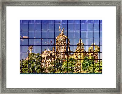 Framed Print featuring the photograph Capitol Reflection - Iowa by Nikolyn McDonald