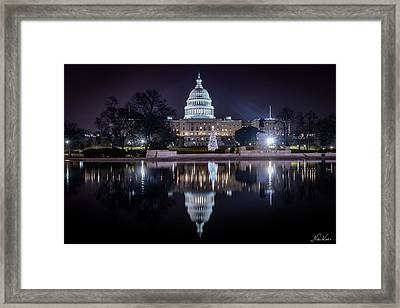 Capitol Reflects Framed Print