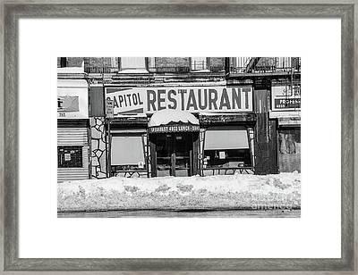Capitol Restaurant Framed Print