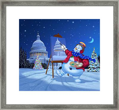 Capitol Snoman Framed Print by Michael Humphries