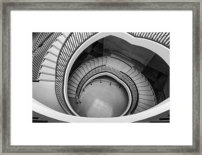 Capitol Stairs Framed Print