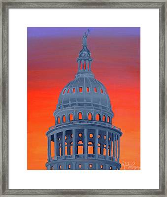 Capitol Warmth Framed Print