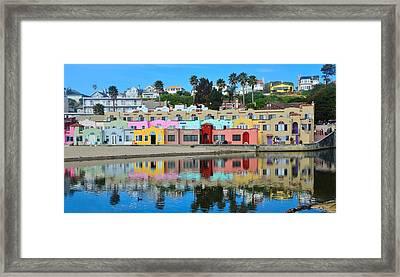 Capitola California Colorful Hotel Framed Print
