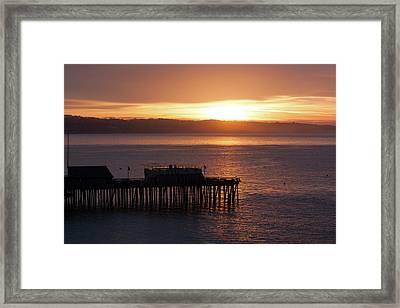 Framed Print featuring the photograph Capitola Day Begins by Lora Lee Chapman