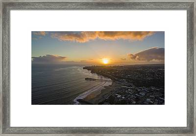 Capitola Dreamin' Framed Print by David Levy