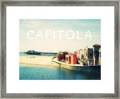 Capitola Framed Print by Linda Woods