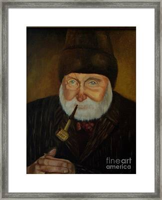 Cap'n Danny Framed Print by Marlene Book