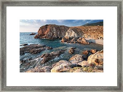 Framed Print featuring the photograph Capo Pecora by Laura Melis